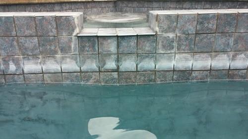 cal en la piscina