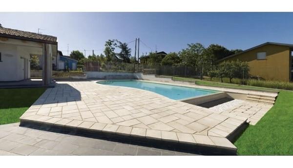 Suelos para piscinas piedra clásica