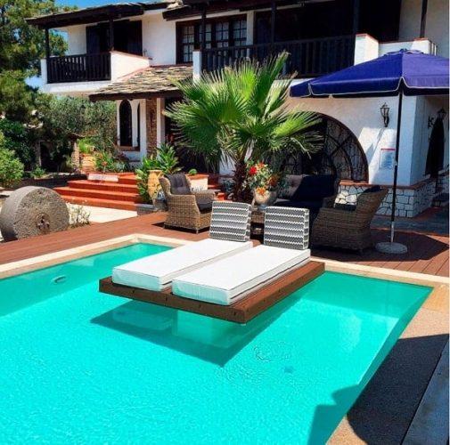 liner armado piscina blanca