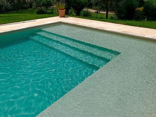 liner piscina relieve gris