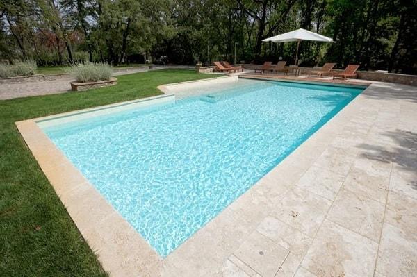 liner piscina blanca