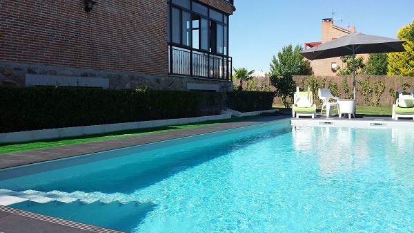 liner piscina gris