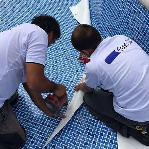 reparacion piscinas con liner piscina
