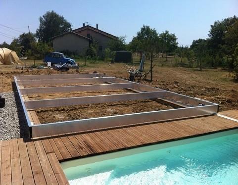 como hacer cubierta para piscina