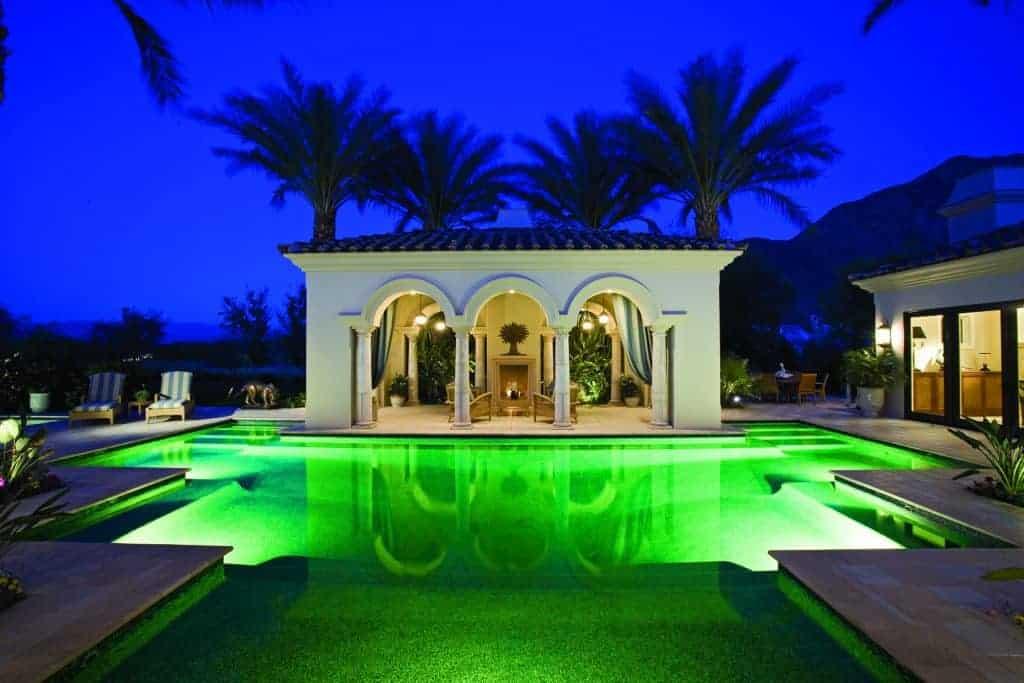 luces piscina