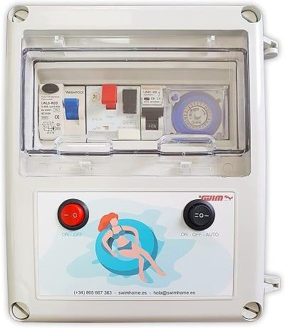 Cuadro Eléctrico para Piscina Compacto con Guardamotor y Transformador