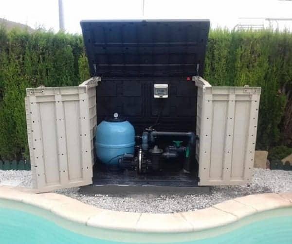 caseta depuradora piscina elevada