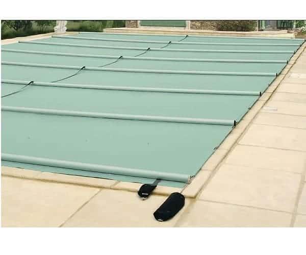 Cobertor de seguridad para piscinas de barras