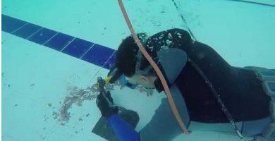 Como reparar fuga en piscina llena
