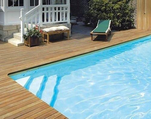 forma piscina escalera angulo
