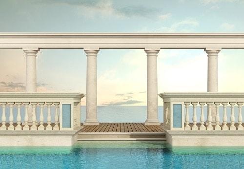 lujo escalera de obra piscina