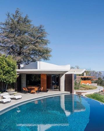 piscina infinita casa Silvertop