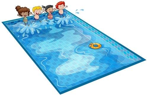 salpicaduras piscina