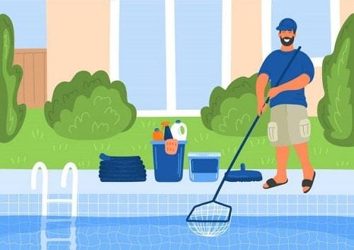 limpiar hojas piscina