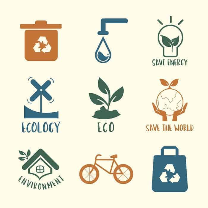 símbolo de conservación ambiental