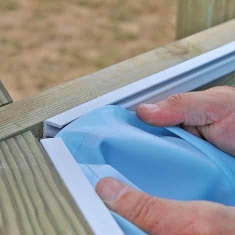 Instalación perfil de sujeción liner piscina