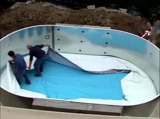 montaje liner piscina desmontable