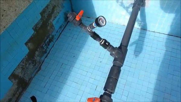 prueba de presion piscina