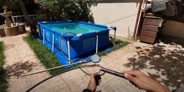 barrefondos piscina desmontable casero