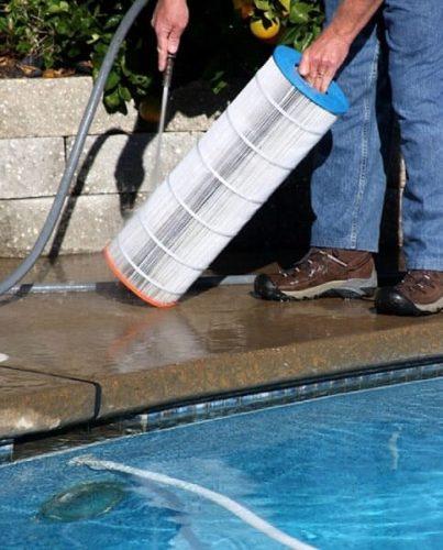 limpiar cartucho para filtro de piscina