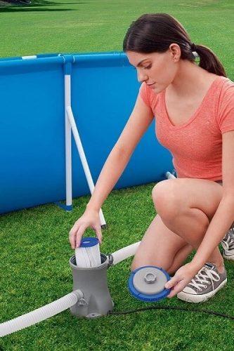 limpieza filtro depuradora cartucho piscina