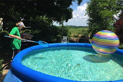 guardar una piscina desmontable