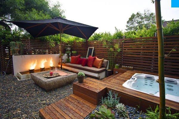 reforma patio con piscina